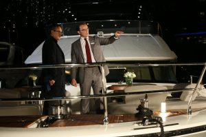 Guests led on board the MCY 80 by Asia Yachting staff at the Monte Carlo Yachts 80 Asia Launch Event in Hong Kong_1