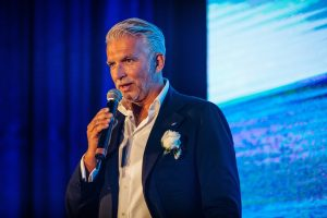 Nuvolari & Lenard Studio Partner and Designer of Monte Carlo Yachts Mr. Dan Lenard delivers speech at the MCY 80 Asia Launch Event_1