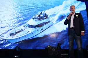 Nuvolari & Lenard Studio Partner and Designer of Monte Carlo Yachts Mr. Dan Lenard delivers speech at the MCY 80 Asia Launch Event_4