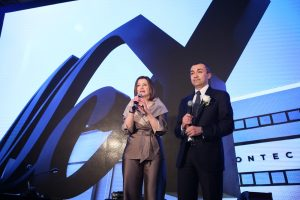 President of MCY Ms. Carla Demaria and Managing Director of MCY Mr. Fabrizio Irrera deliver a speech at the MCY 80 Asia Launch Event_1
