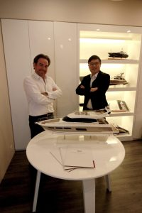 CEO of Asia Yachting Mr. Olivier Besson and Chairman of Asia Yachting Mr. Franklin Heng