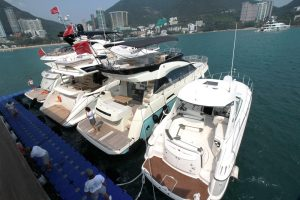 Asia Yachting displayed 9 boats at season's first brokerage boat show in the middle of the ocean in Repulse Bay on April 29 and 30_5