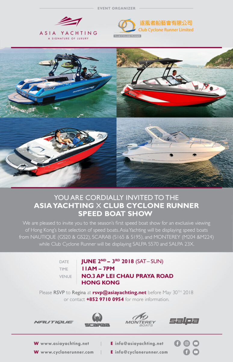 Asia Yachting x Club Cyclone Runner Speed Boat Show