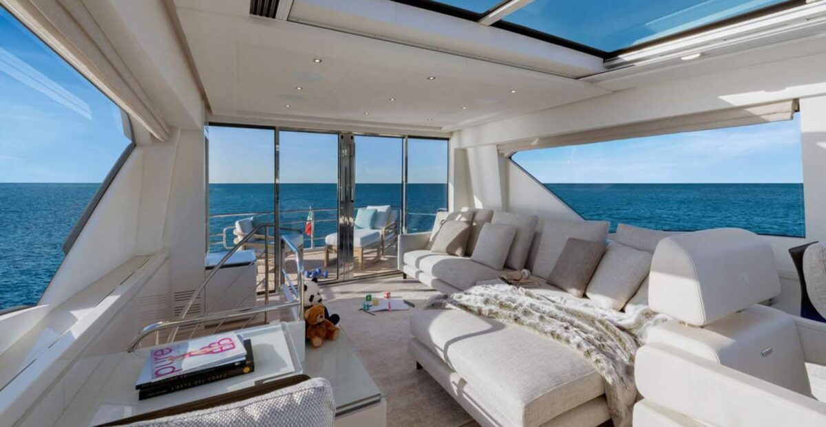 monte carlo yachts mcy 70 skylounge internal enclosed flybridge aft terrace