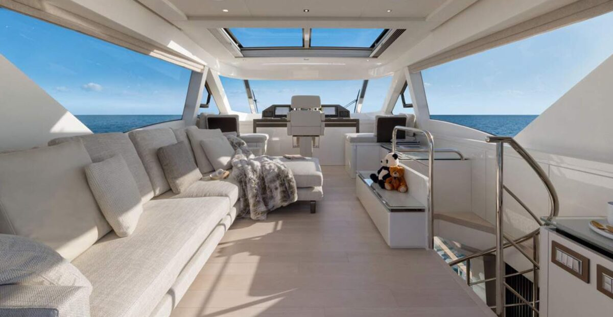 monte carlo yachts mcy 70 skylounge internal enclosed flybridge